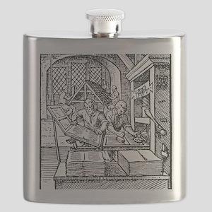 Printing press, 16th century Flask