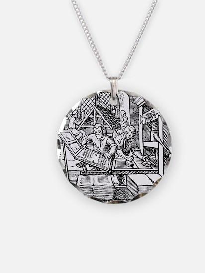 Printing press, 16th century Necklace