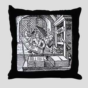 Printing press, 16th century Throw Pillow