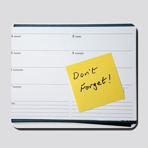 Diary reminder, post-it note Mousepad