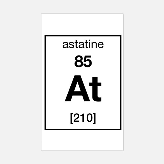 Periodic table astatine stickers cafepress astatine rectangle decal urtaz Gallery