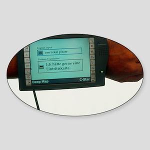 Prototype portable computer tourist Sticker (Oval)