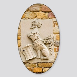 Da Vinci coat-of-arms, Leonardo mus Sticker (Oval)