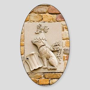Da Vinci coat-of-arms, Leonardo mus Sticker (Oval)