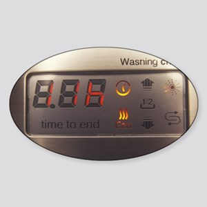 Dishwasher display panel Sticker (Oval)