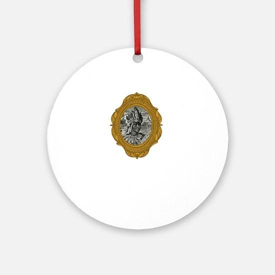 Montezuma II White Round Ornament