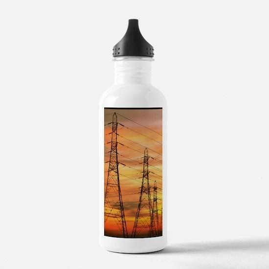 Pylons carrying electr Water Bottle