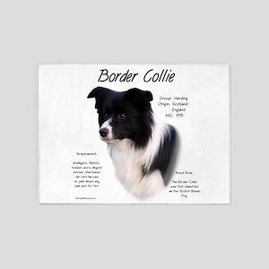 Border Collie 5'x7'Area Rug