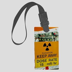 Radiation hazard sign at Amersha Large Luggage Tag