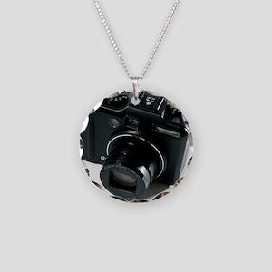 Digital camera Necklace Circle Charm