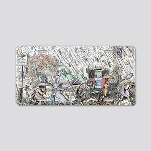 Raining cats and dogs Aluminum License Plate