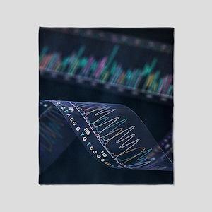 DNA analysis Throw Blanket