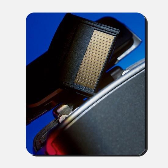 Digital camera and memory card Mousepad