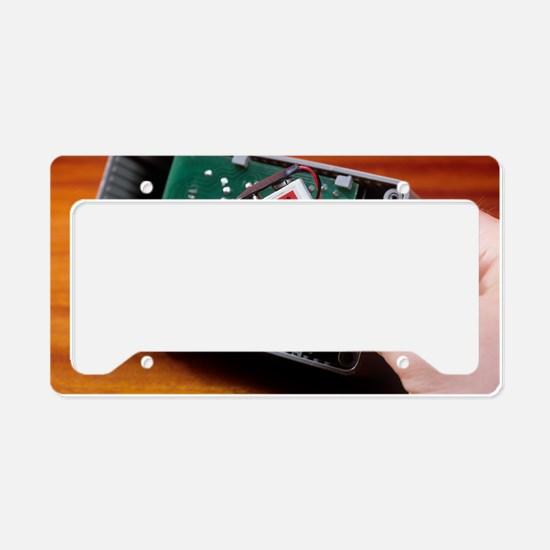 Rechargeable battery License Plate Holder
