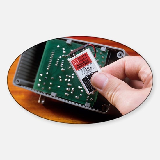 Rechargeable battery Sticker (Oval)