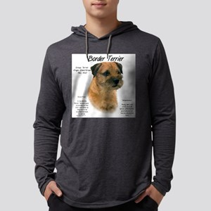 Border Terrier Mens Hooded Shirt