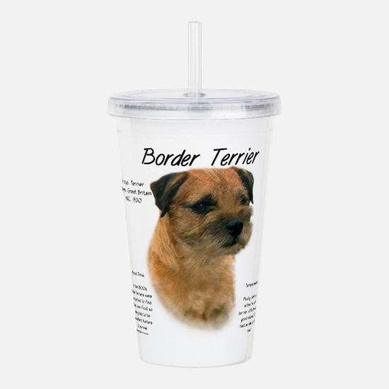 Border Terrier Acrylic Double-wall Tumbler