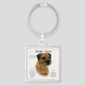 Border Terrier Square Keychain