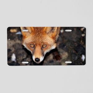 Red fox Aluminum License Plate