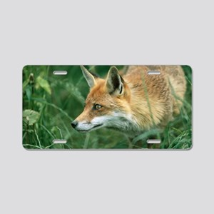 Red fox hunting Aluminum License Plate