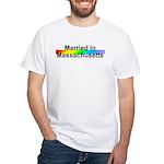 Married in Massachusetts White T-Shirt