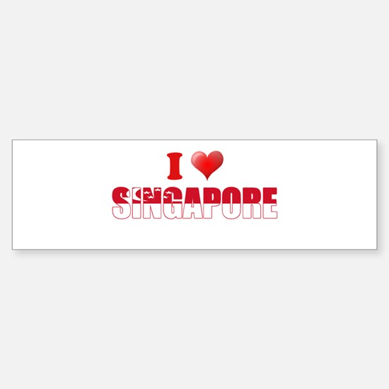 I love Singapore Bumper Bumper Bumper Sticker