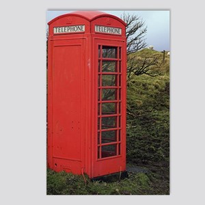 Red telephone box Postcards (Package of 8)
