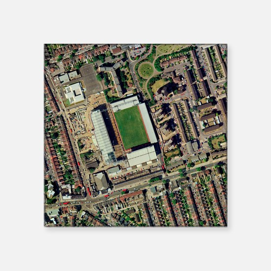 "Redeveloping West Ham's sta Square Sticker 3"" x 3"""