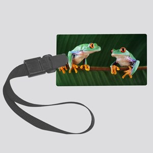 Red-eyed tree frogs Large Luggage Tag