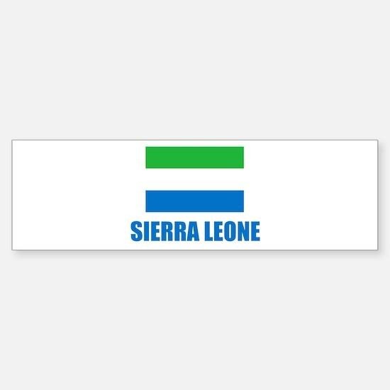Sierra Leone Flag Bumper Bumper Bumper Sticker