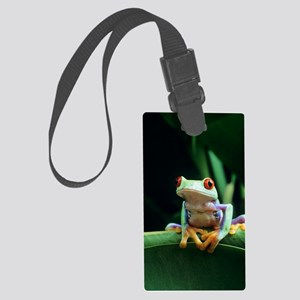 Red-eyed tree frog Large Luggage Tag