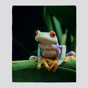 Red-eyed tree frog Throw Blanket