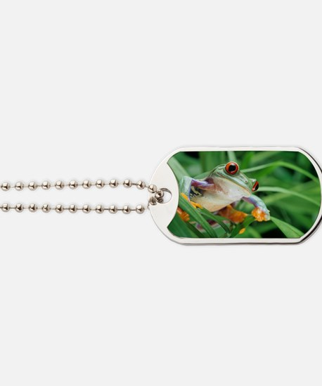 Red-eyed tree frog Dog Tags