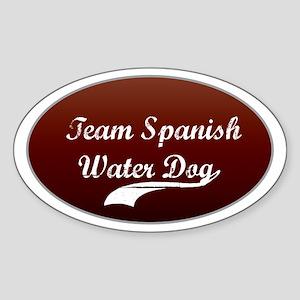 Team Water Dog Oval Sticker