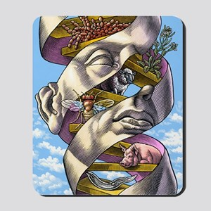 DNA in all living things, artwork Mousepad