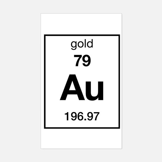 Periodic table gold stickers cafepress gold rectangle decal urtaz Images