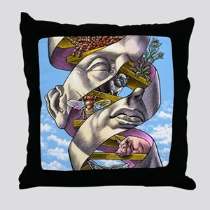 DNA in all living things, artwork Throw Pillow