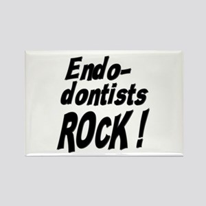 Endodontists Rock ! Rectangle Magnet