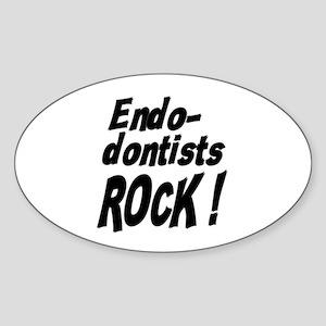 Endodontists Rock ! Oval Sticker