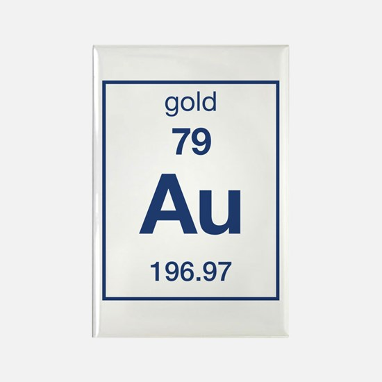 Periodic table gold magnet cafepress gold rectangle magnet urtaz Images