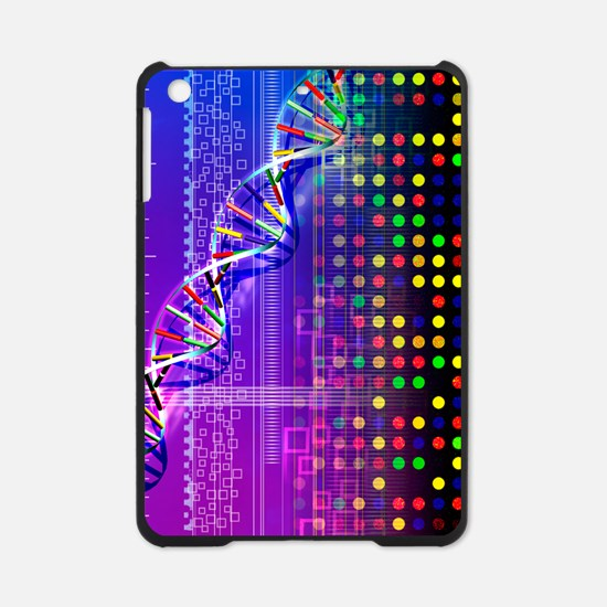 DNA microarray and double helix iPad Mini Case