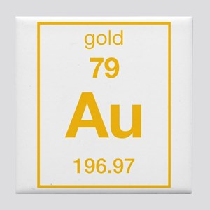 Gold periodic table coasters cafepress gold tile coaster urtaz