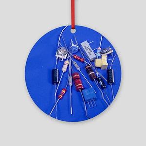 Resistors Round Ornament