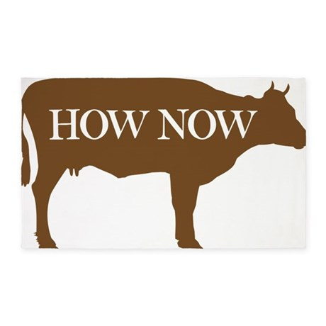 How Now Brown Cow 3'x5' Area Rug
