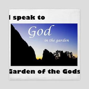 I Speak to God in the Garden 01 Queen Duvet