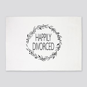 divorce party happily divorced 5'x7'Area Rug