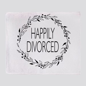 divorce party happily divorced Throw Blanket