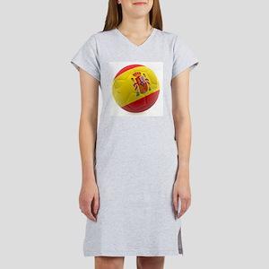 Spain world cup soccer ball Women's Nightshirt