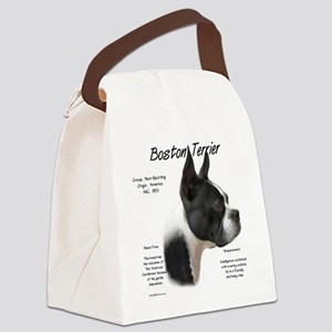 Boston Terrier Canvas Lunch Bag