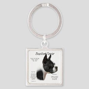 Boston Terrier Square Keychain